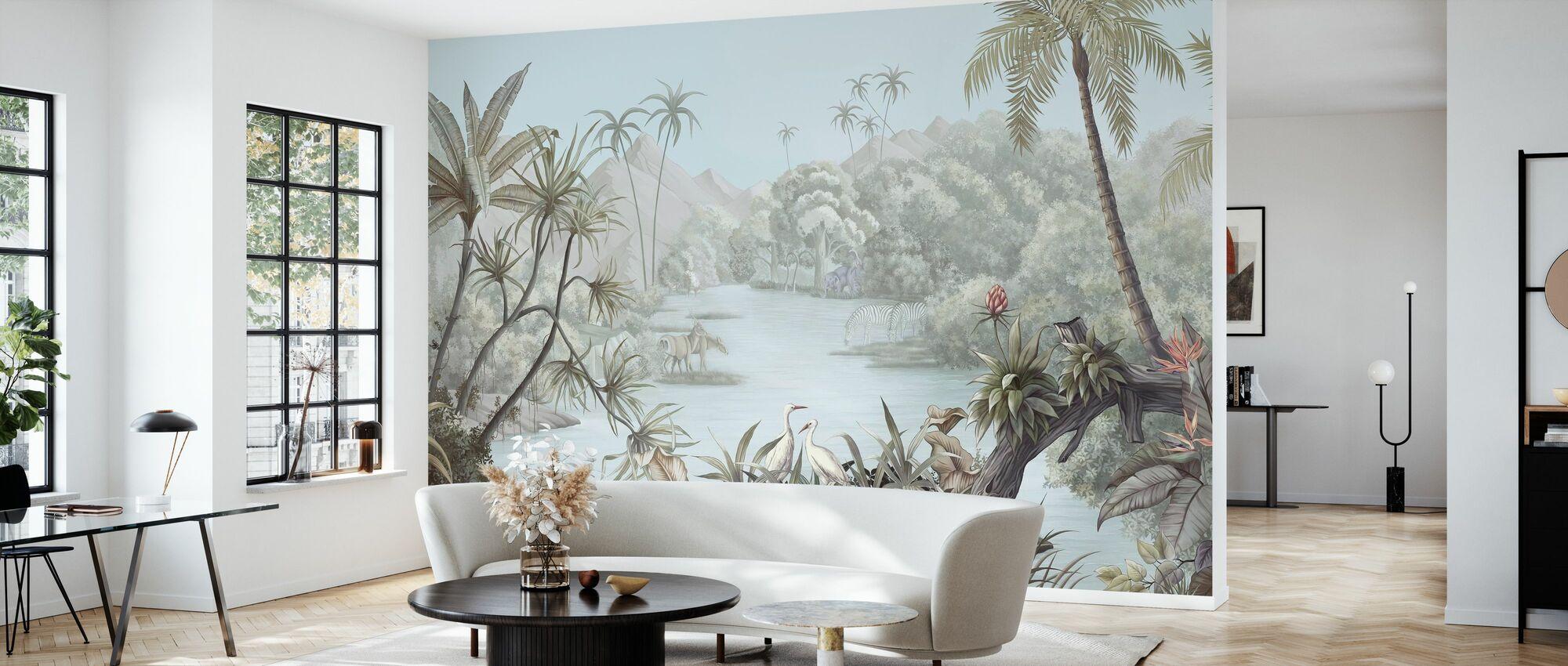 Tangled Jungle II - Wallpaper - Living Room