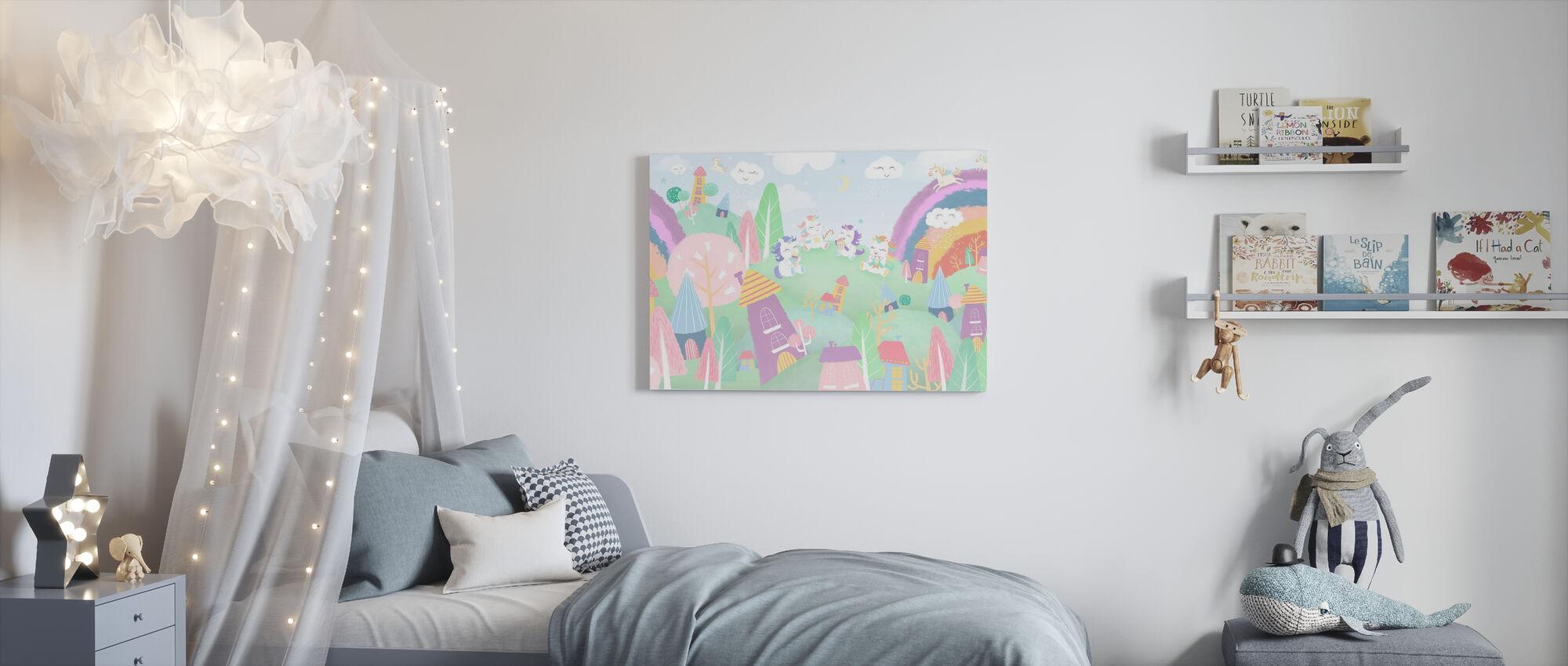 Unicorn Village - Canvas print - Kids Room