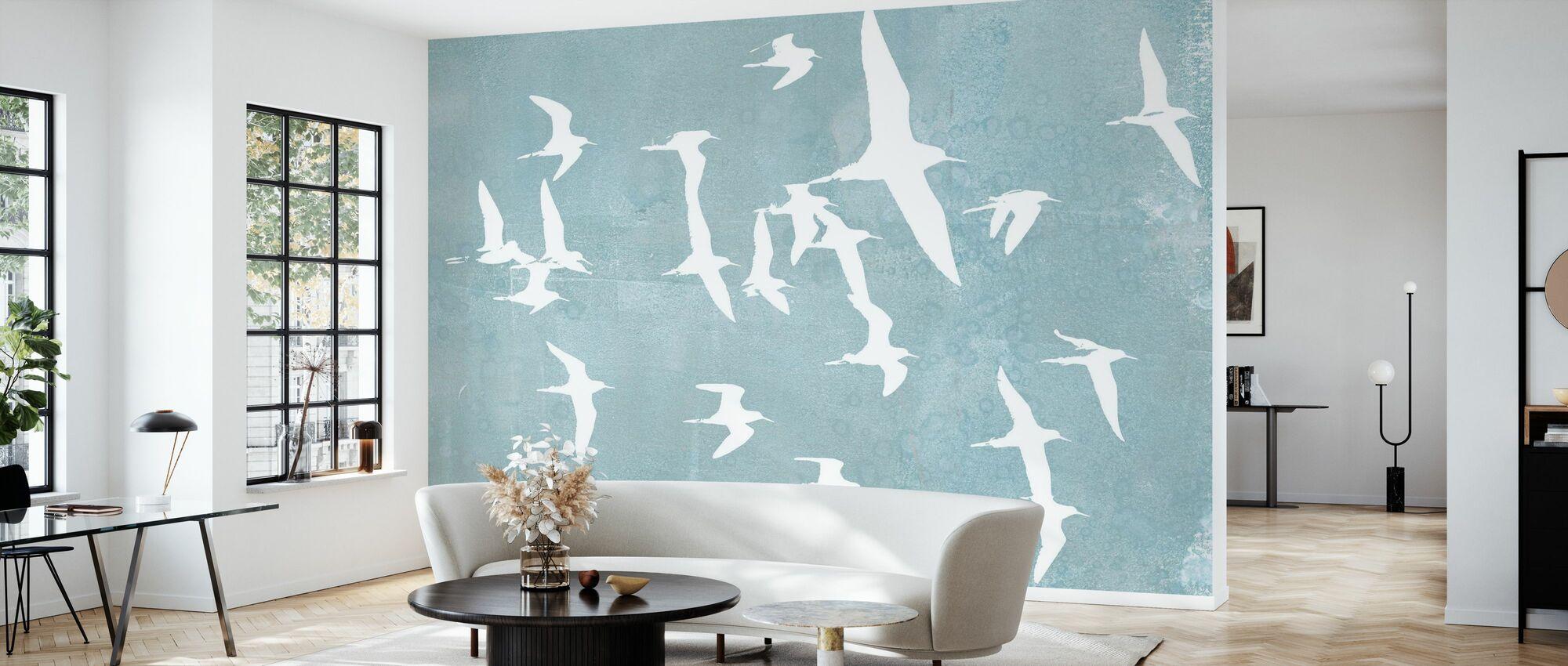 Silhouettes in Flight - Wallpaper - Living Room