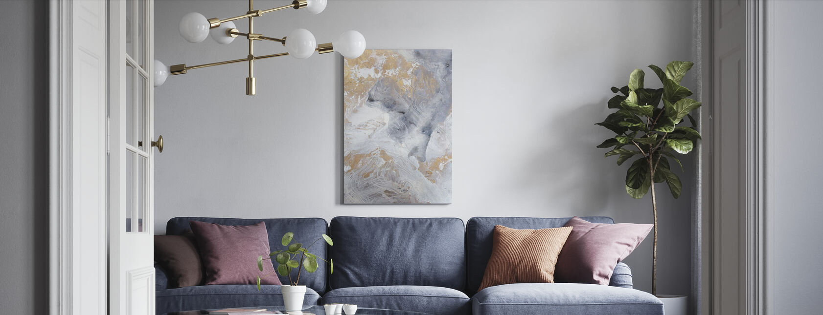 Gold Fusion - Canvas print - Living Room