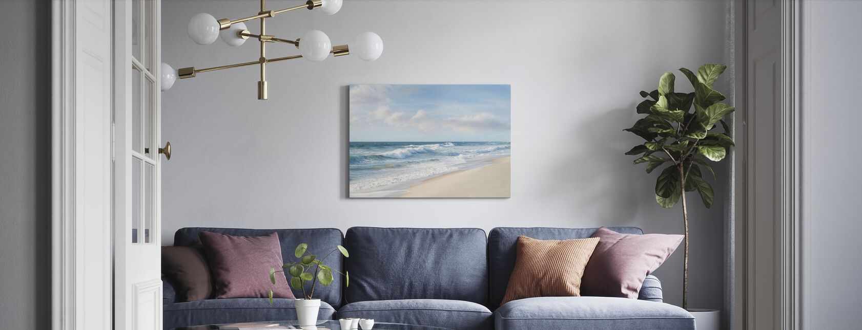 Hamptons II - Canvas print - Woonkamer