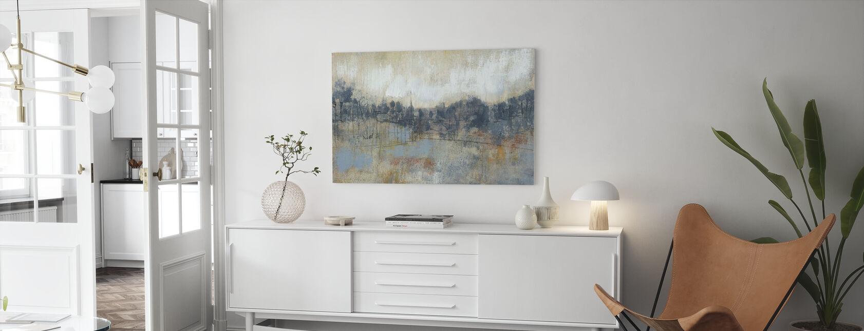 Cool Grey Horizon - Canvas print - Living Room