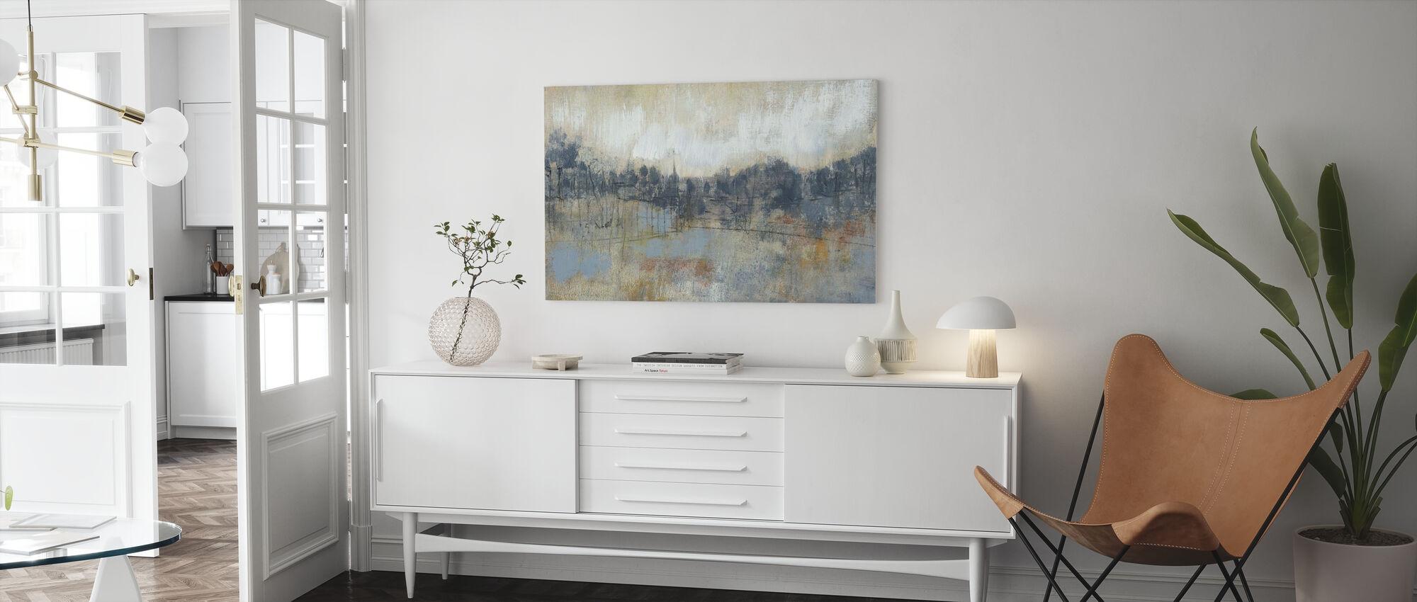 Cool Grå horisont - Billede på lærred - Stue