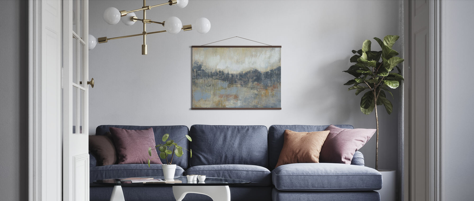 Cool Grey Horizon - Poster - Living Room