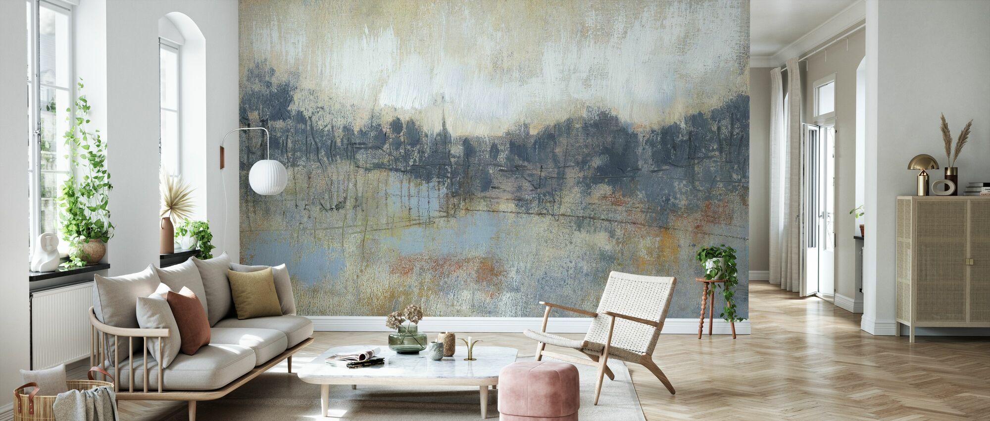 Cool Grey Horizon - Wallpaper - Living Room