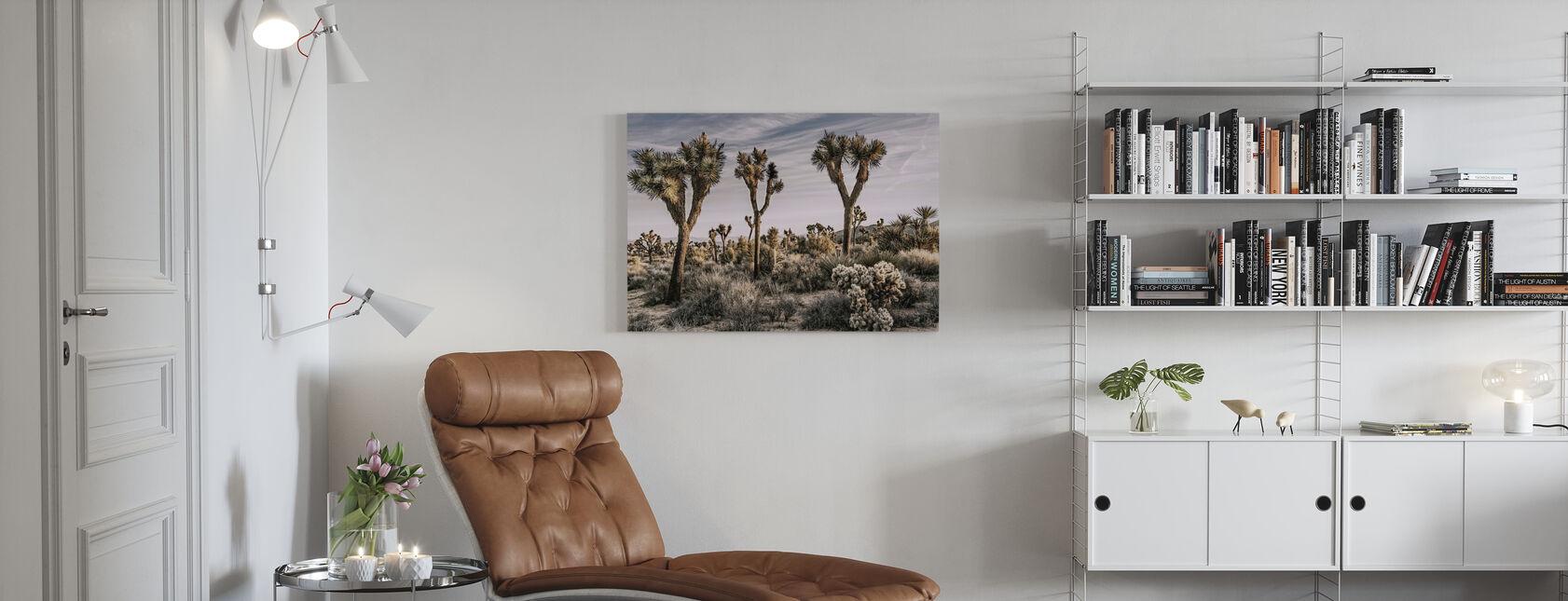 Views of Joshua Tree - Canvas print - Living Room