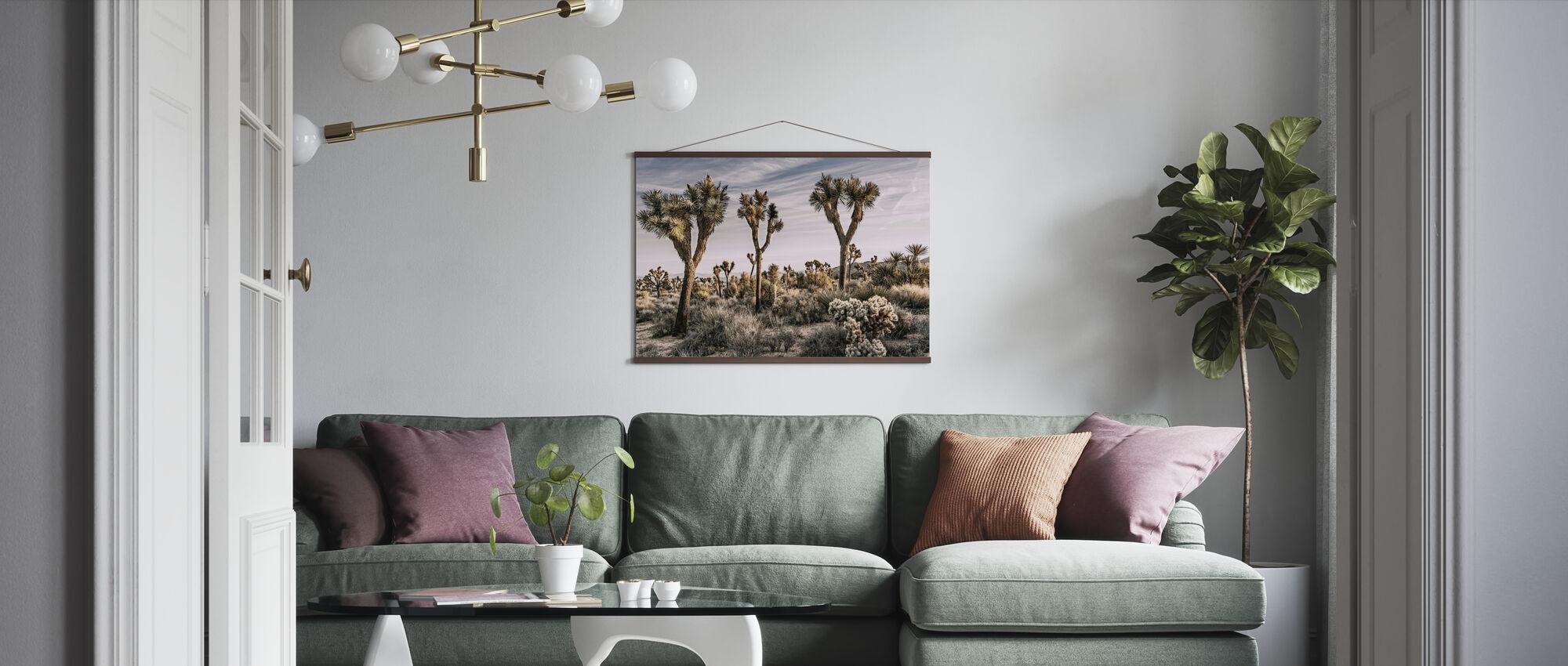 Views of Joshua Tree - Poster - Living Room