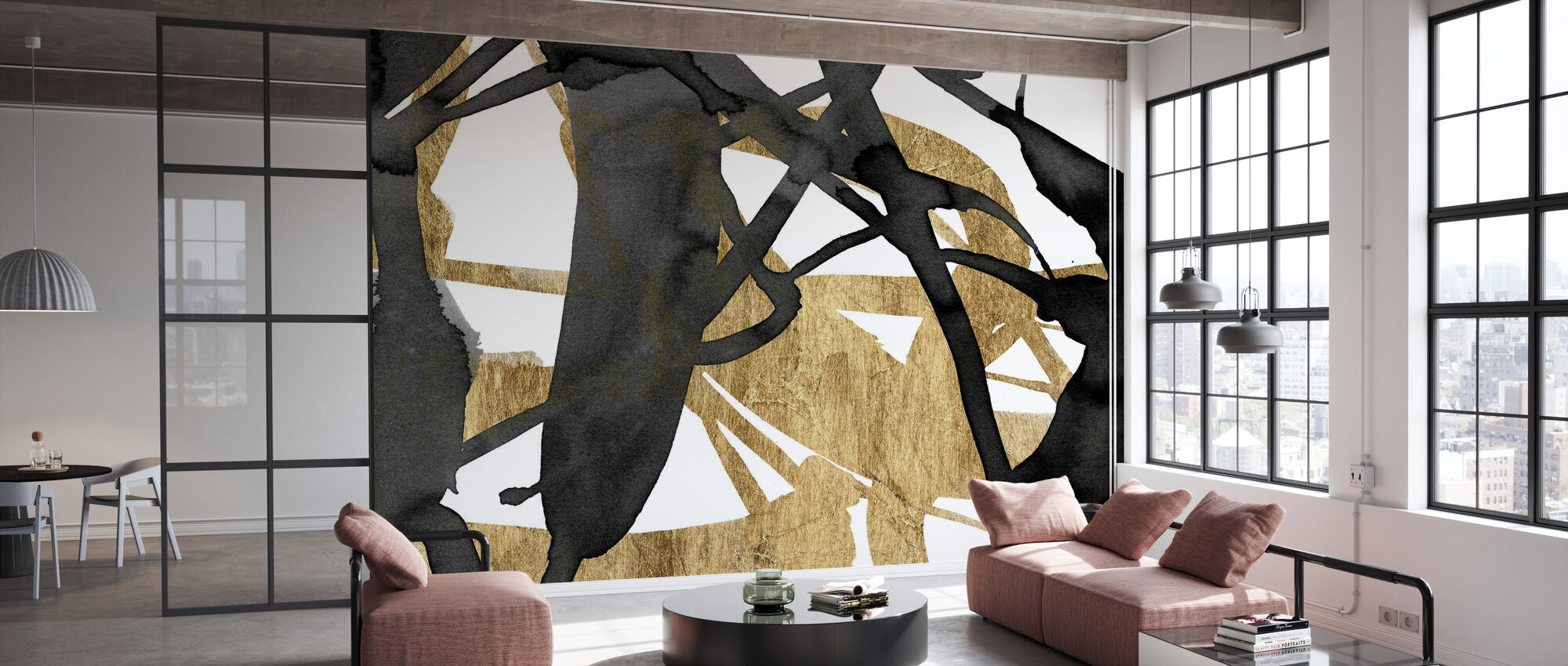 Luxe Gold - Wallpaper - Office