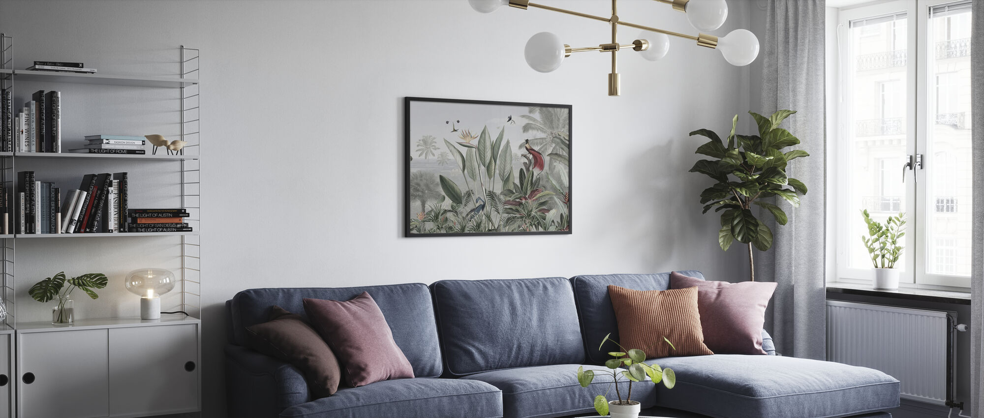 Botanical Beauty - Panorama - Poster - Living Room