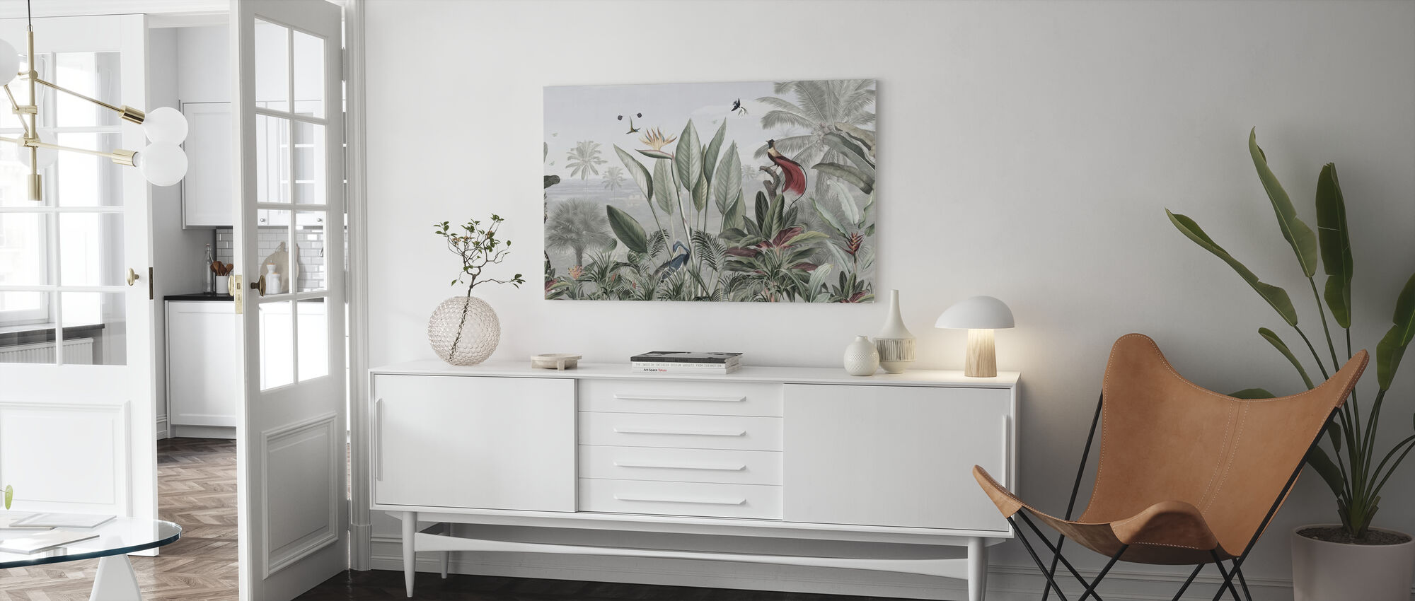 Botanical Beauty - Panorama - Canvas print - Living Room