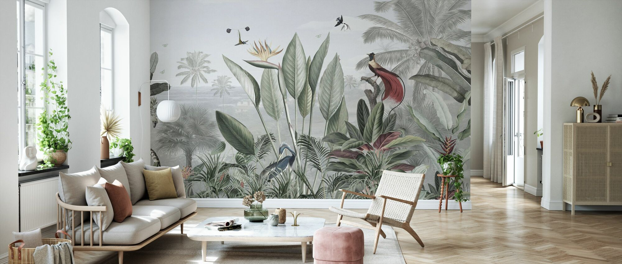 Botanical Beauty - Panorama - Wallpaper - Living Room