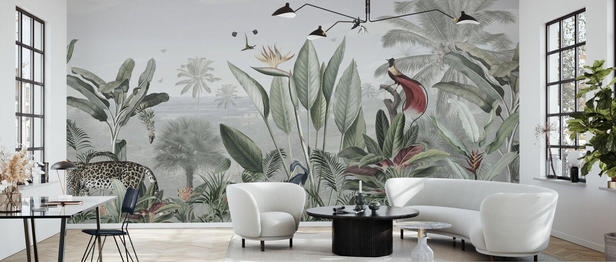 Botanisk skönhet - Panorama - Tapet - Vardagsrum