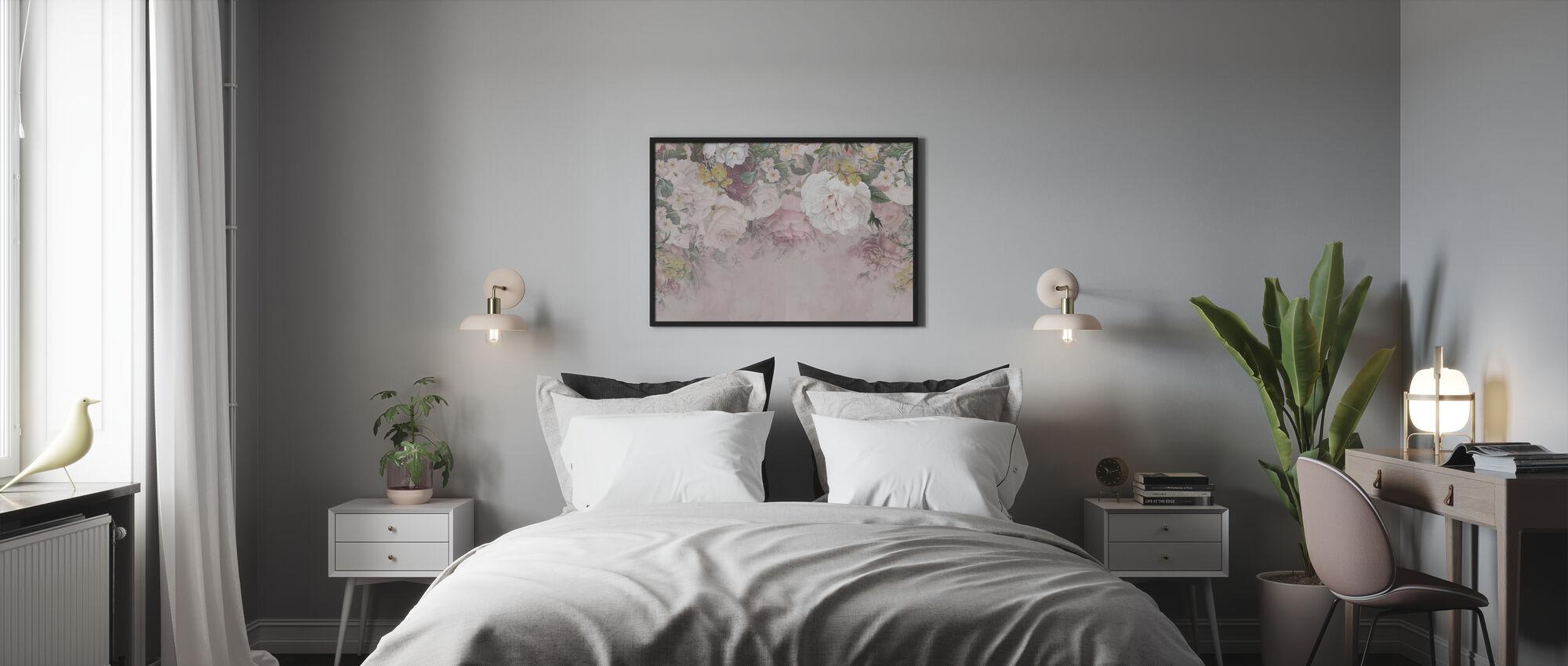 Gentle Flowers - Framed print - Bedroom