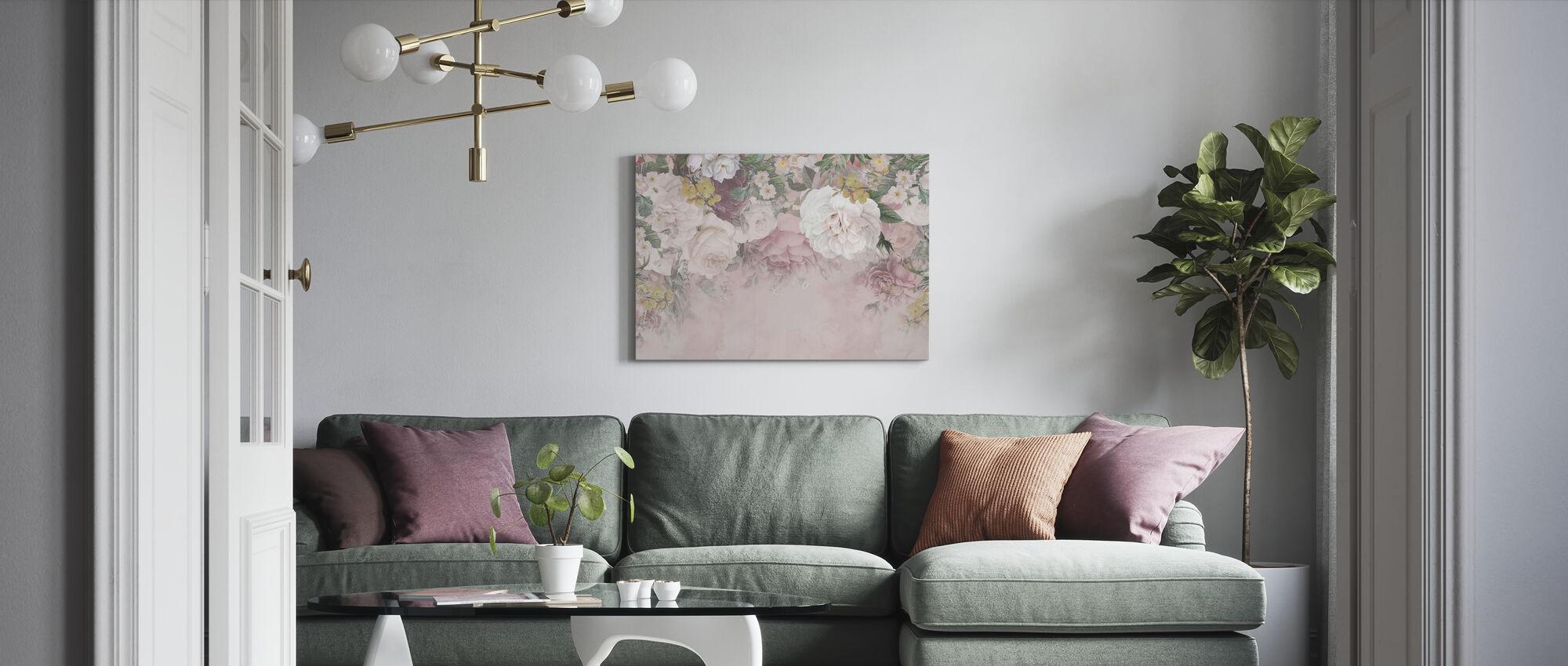 Gentle Flowers - Canvas print - Living Room