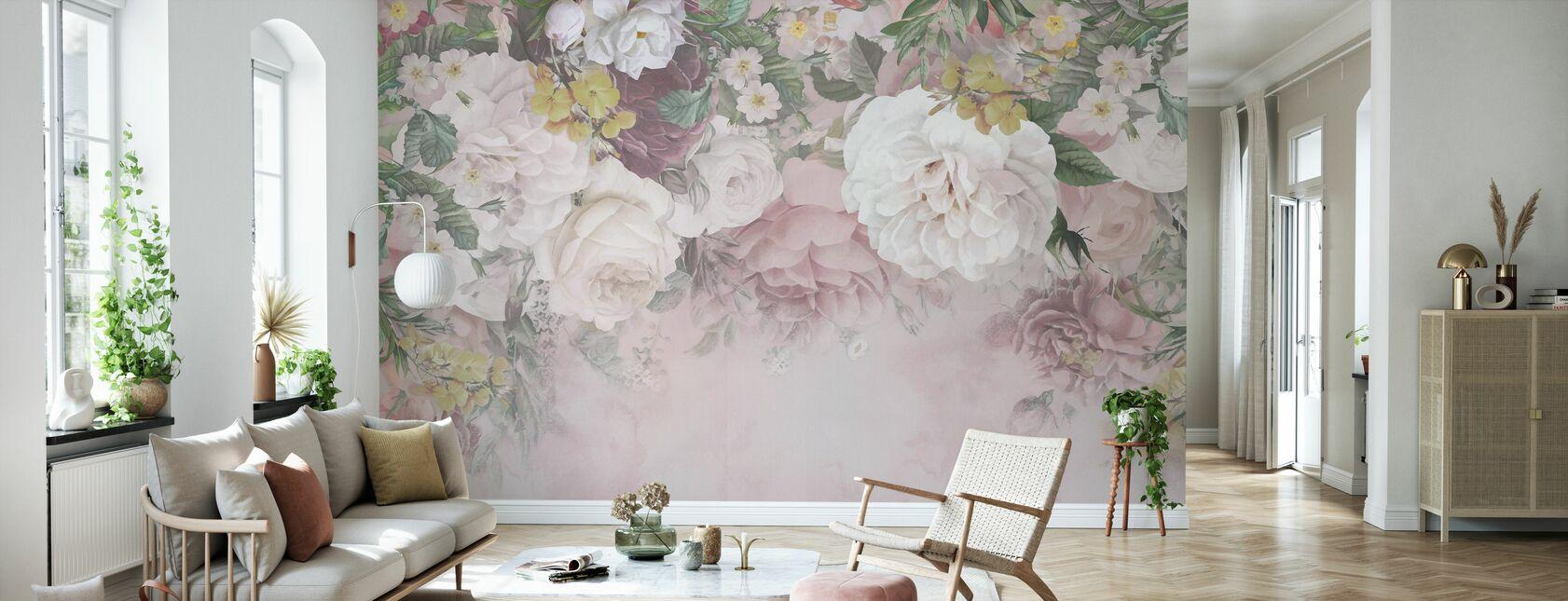 Gentle Flowers - Wallpaper - Living Room