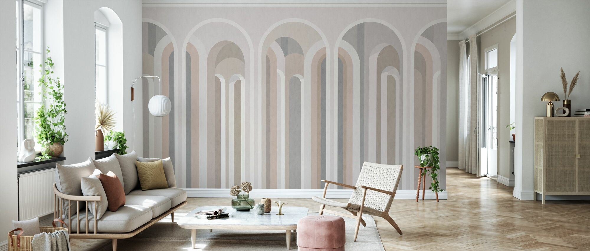 Lofty Arches - Wallpaper - Living Room