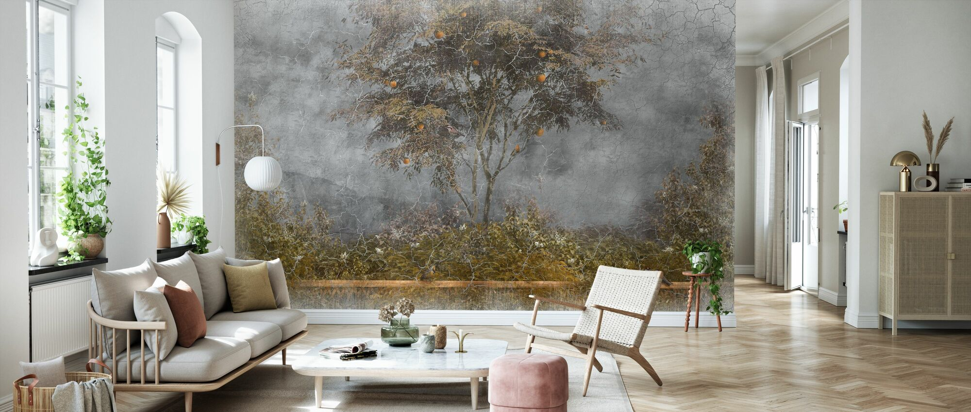 Old Frayed Painted Wall III - Wallpaper - Living Room