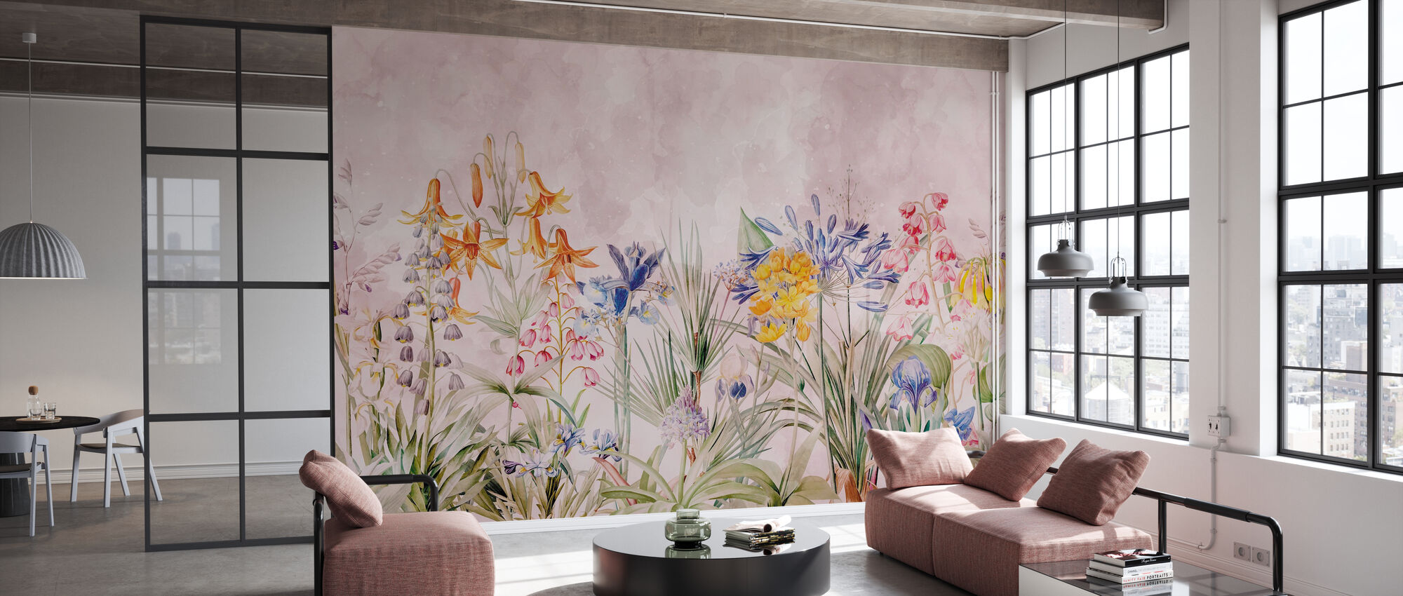 Wild Flowers - Wallpaper - Office