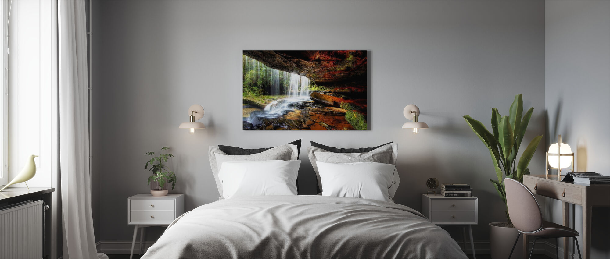 Under the Ledge - Canvas print - Bedroom