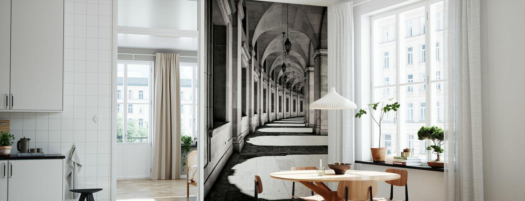 Böjda korridor - Tapet - Kök