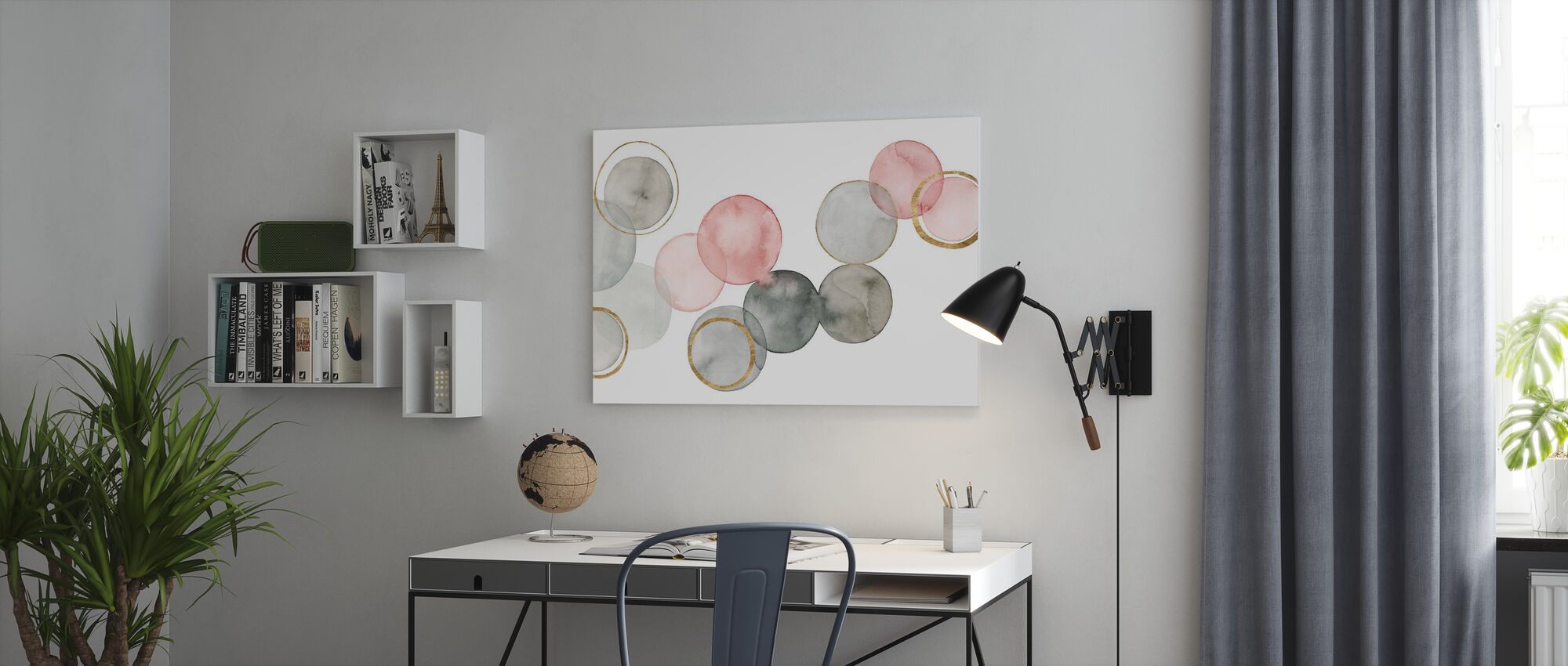 Gilded Spheres - Canvas print - Office