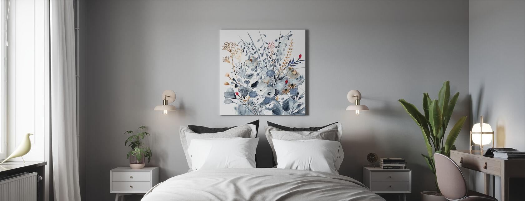 Indigo Ochre - Canvas print - Bedroom