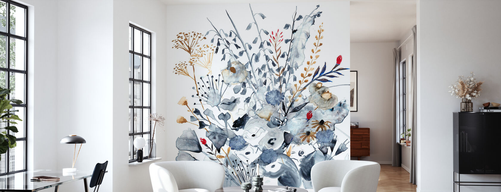 Indigo Ochre - Wallpaper - Living Room