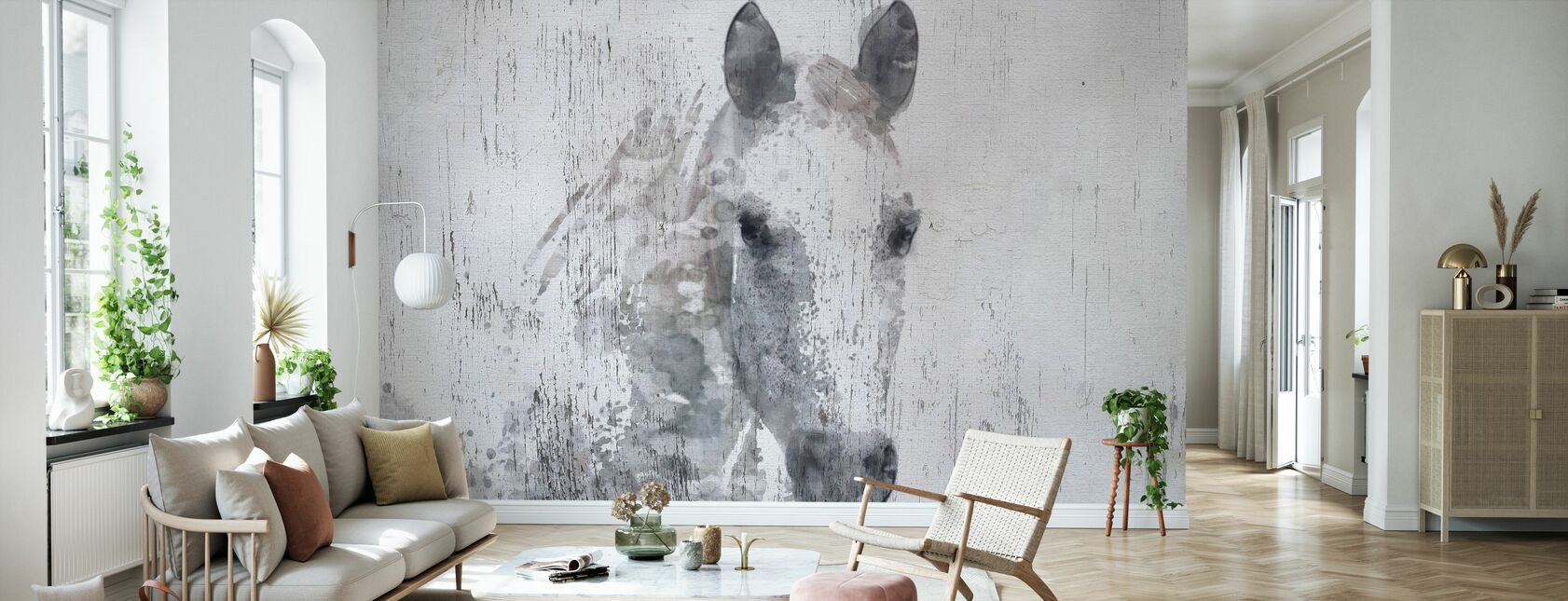 Dapple Koń - Tapeta - Pokój dzienny