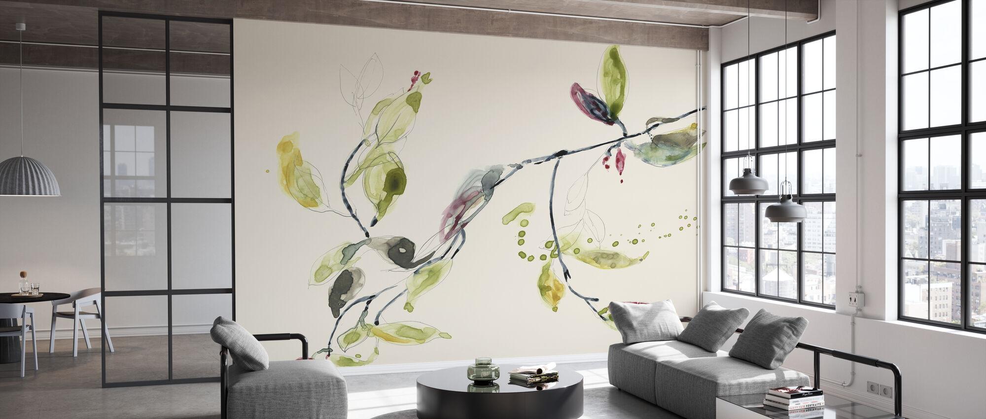 Leaf Branch - Wallpaper - Office