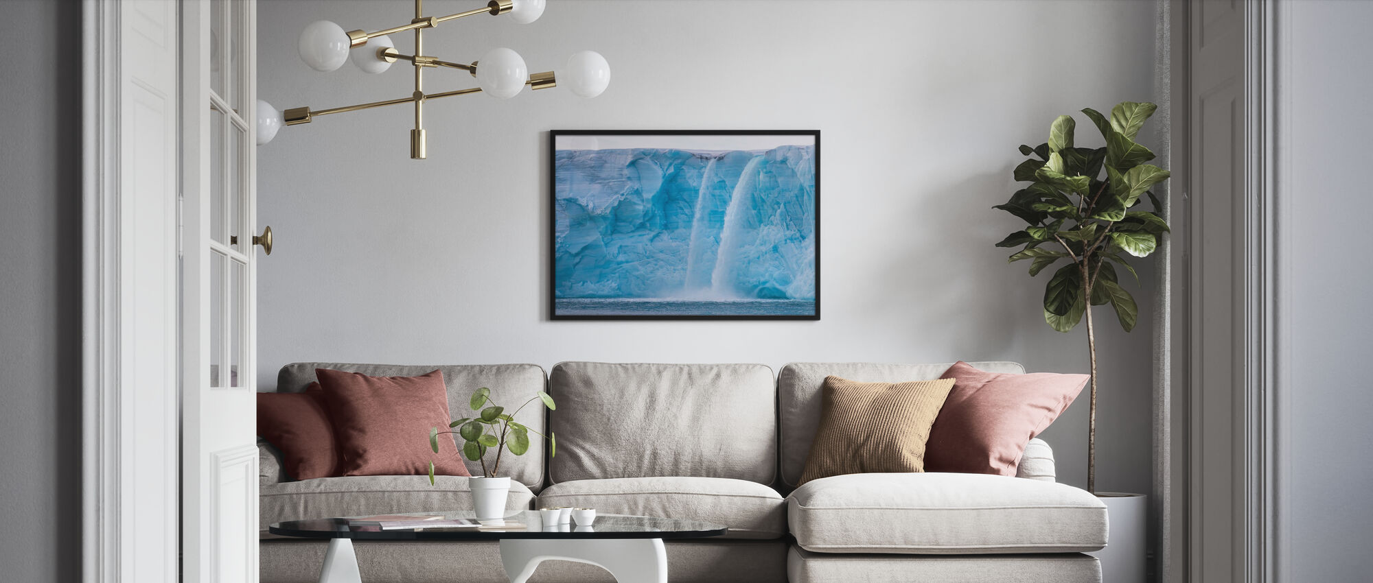 Ice Falls - Poster - Living Room