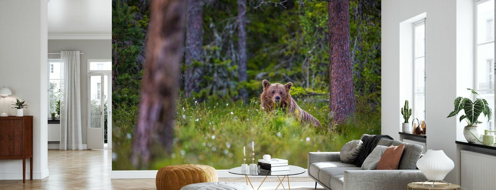 Bear Forest II - Wallpaper - Living Room