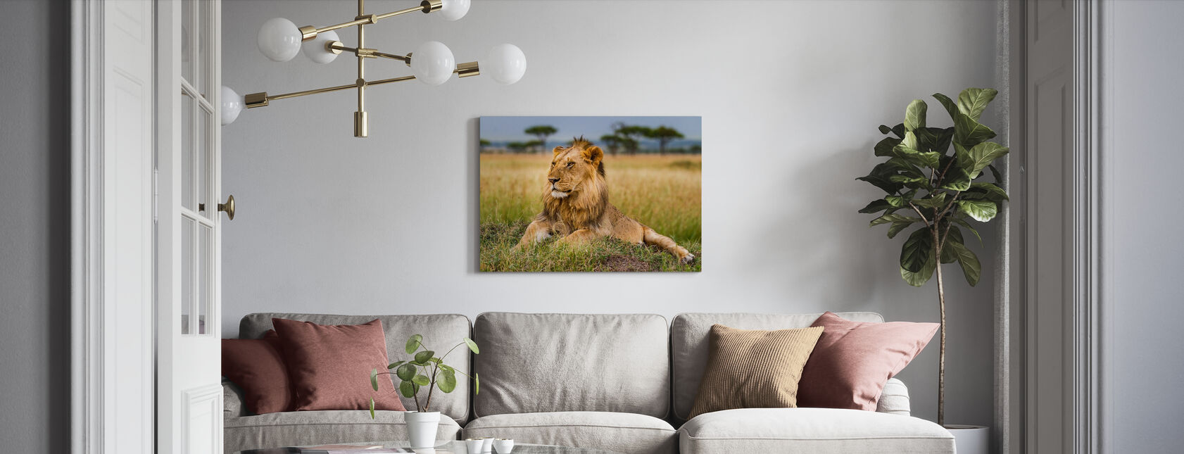 King - Canvas print - Living Room