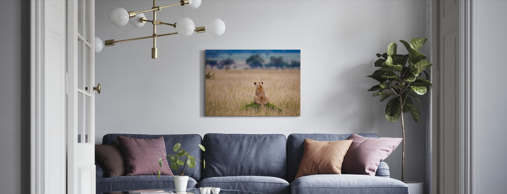 Lost in Thought - Canvas print - Living Room