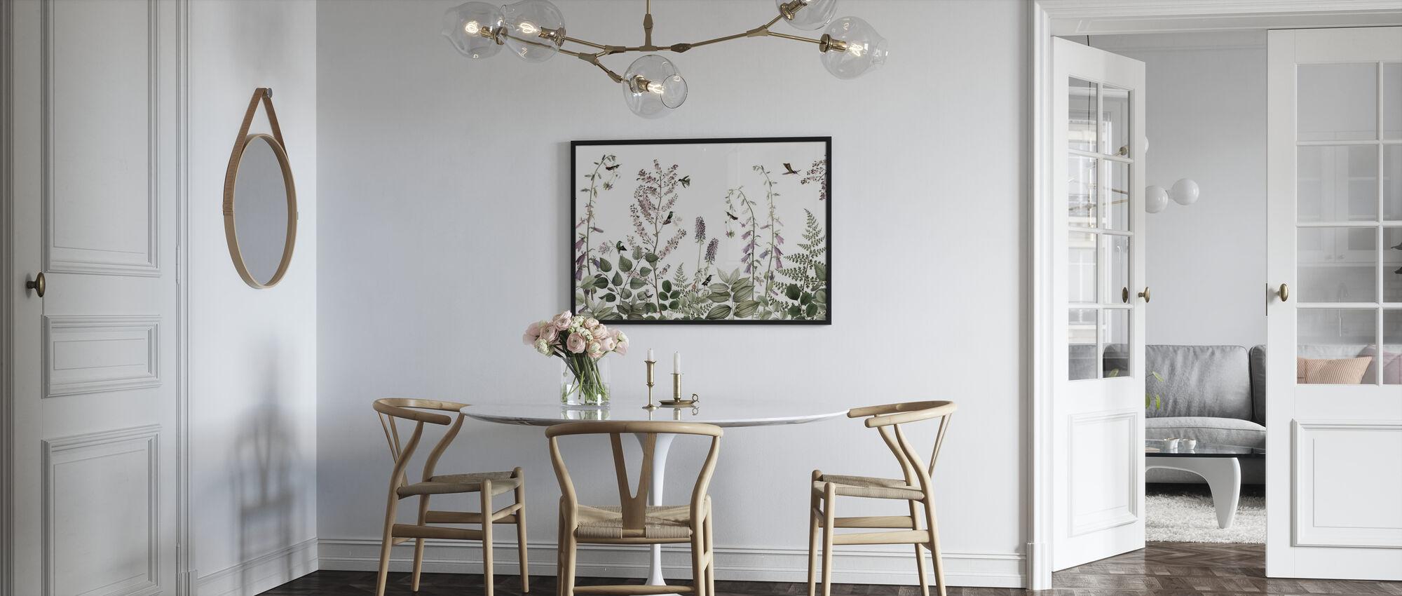 Hummingbird Hedge - Framed print - Kitchen