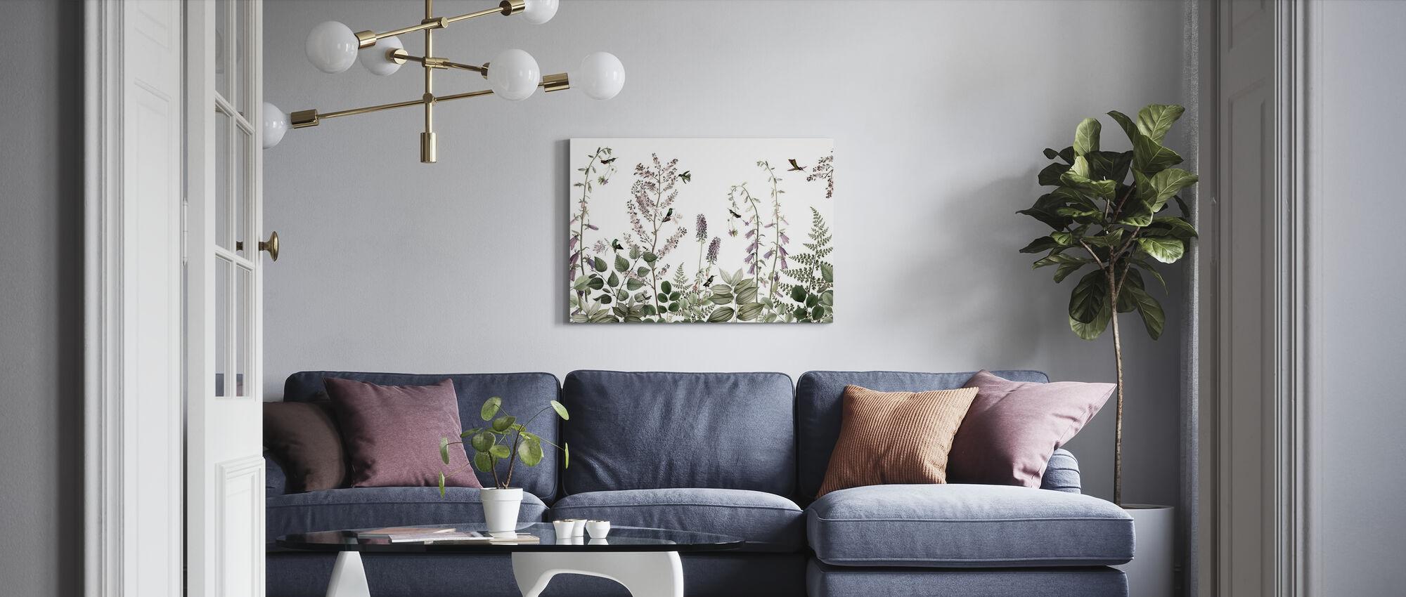 Kolibrie Hedge - Canvas print - Woonkamer