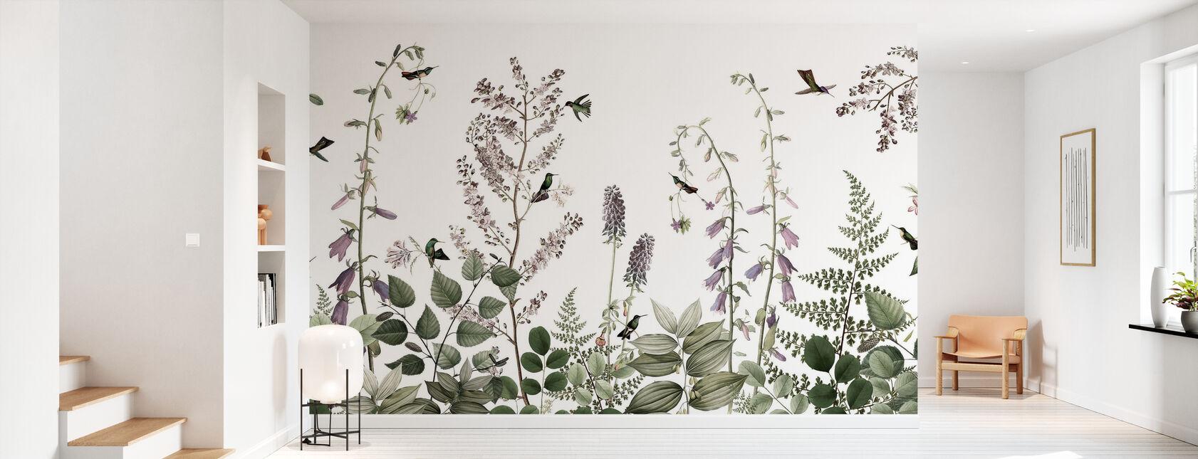 Kolibrie Hedge - Behang - Gang
