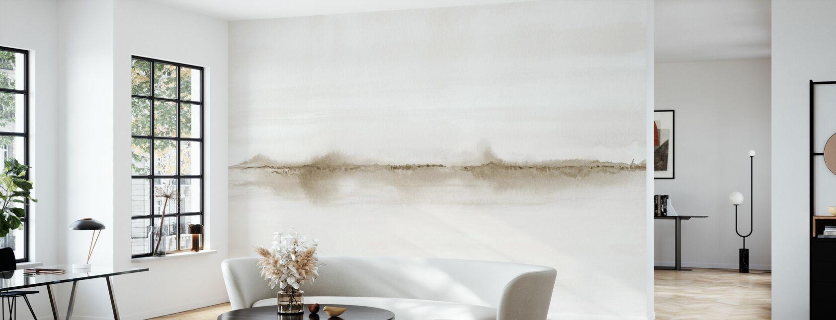 Watercolor Landscape V - Sepia - Wallpaper - Living Room