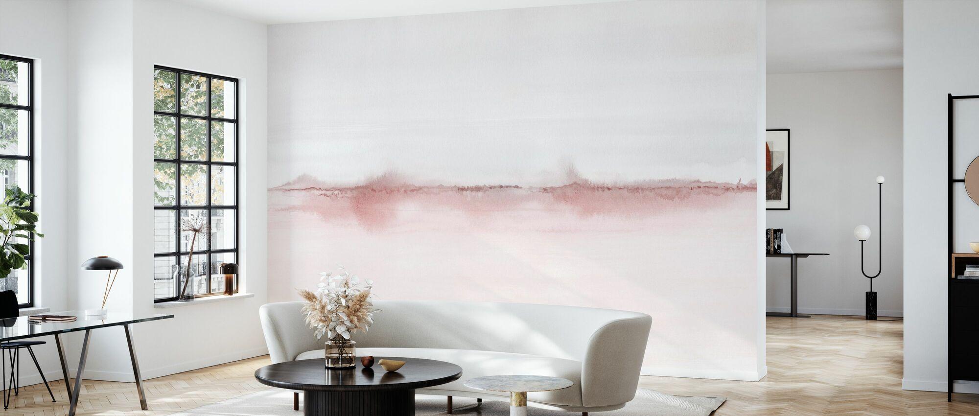 Akvarell landskapet VI - rosa og grå - Tapet - Stue