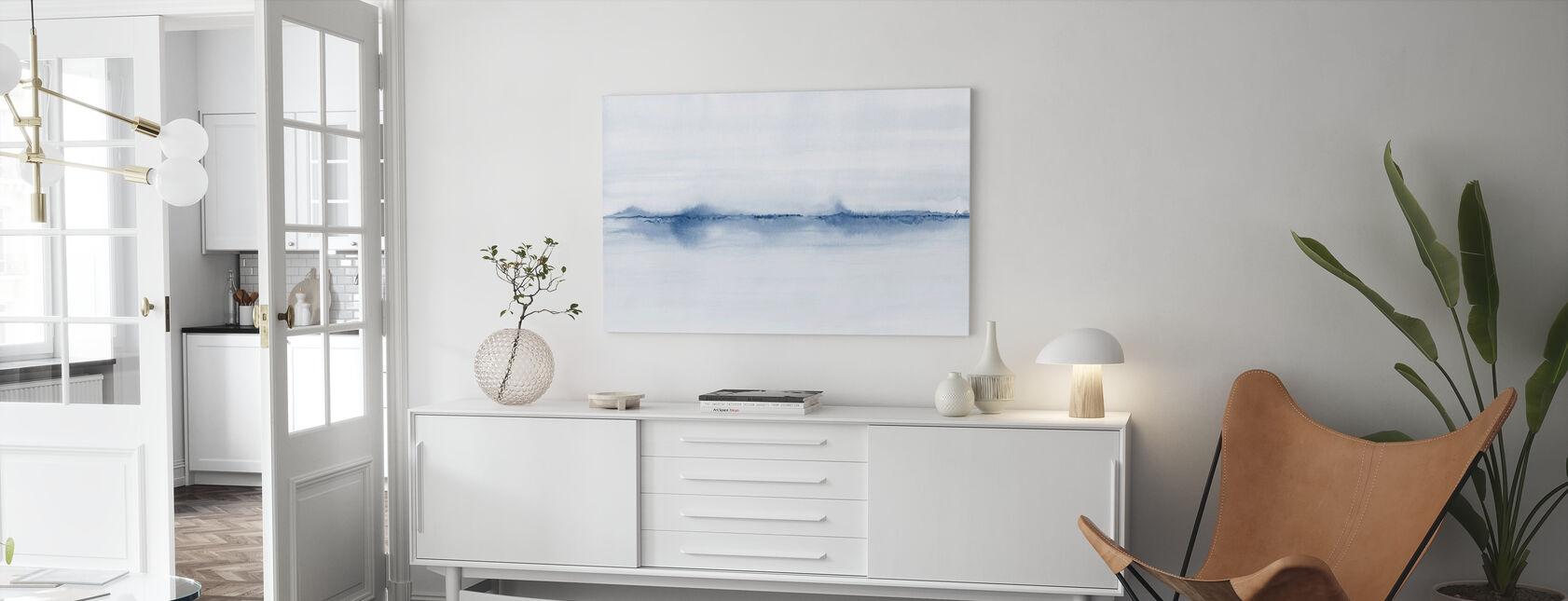 Watercolor Landscape VII - Blue - Canvas print - Living Room