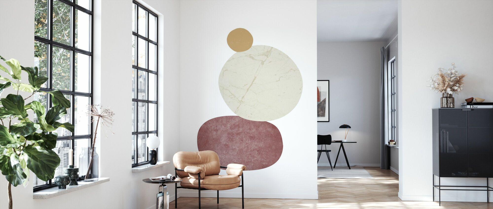 Pebbles II - Wallpaper - Living Room