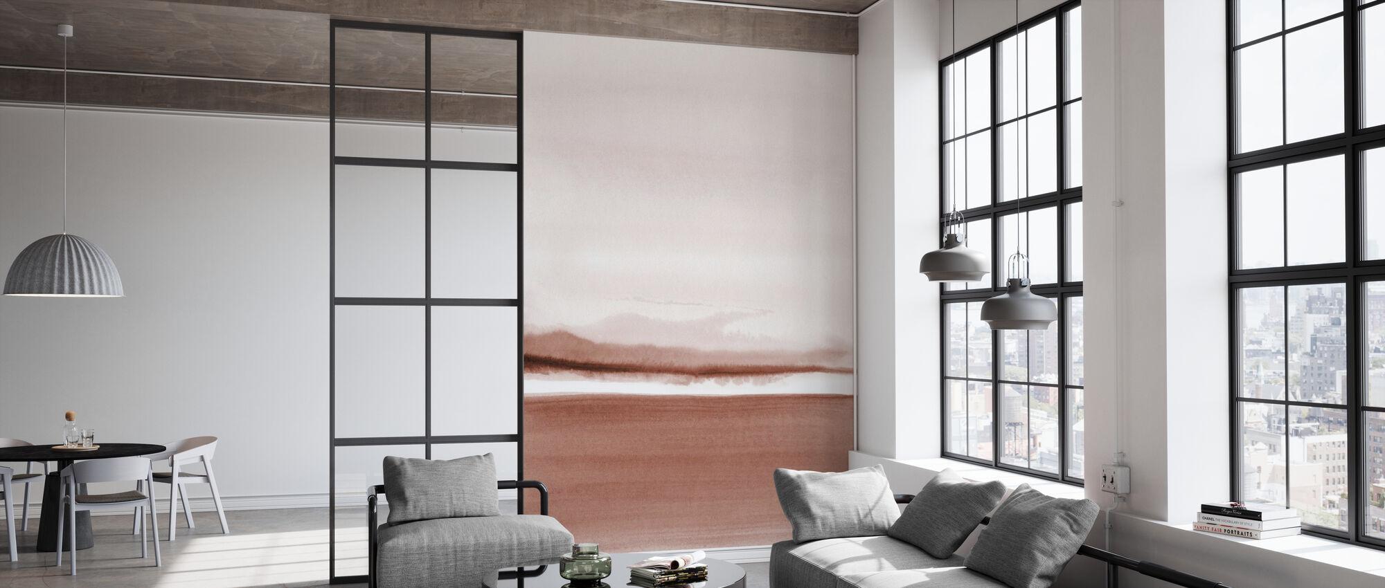 Akvarell landskap XI - Terracotta - Tapet - Kontor