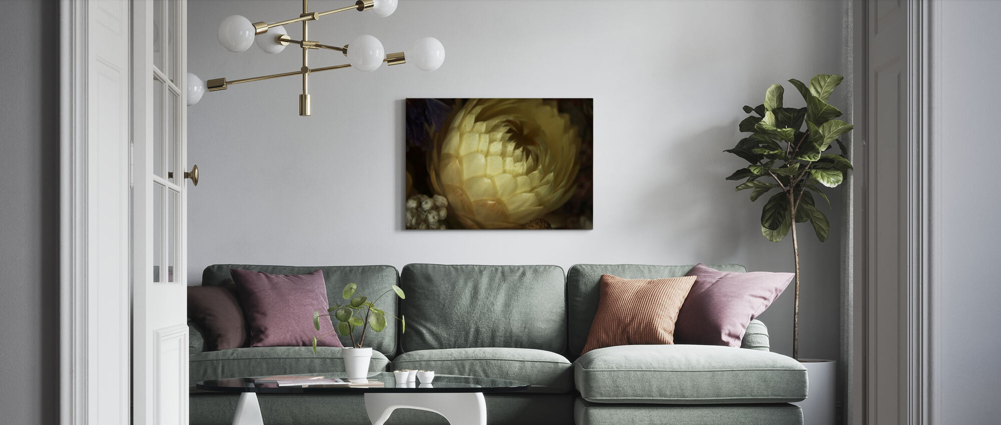 White of White - Canvas print - Living Room