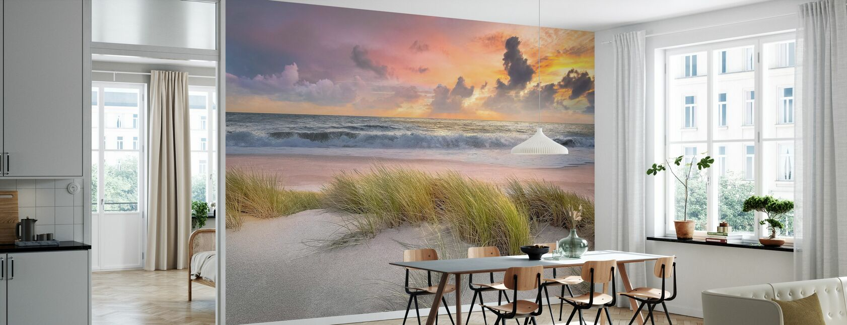 Grass in Beach Sand - Wallpaper - Kitchen