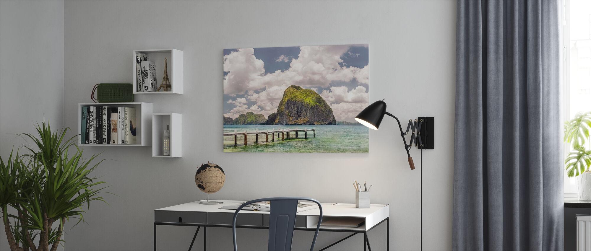 Vacker tropisk strand - Canvastavla - Kontor