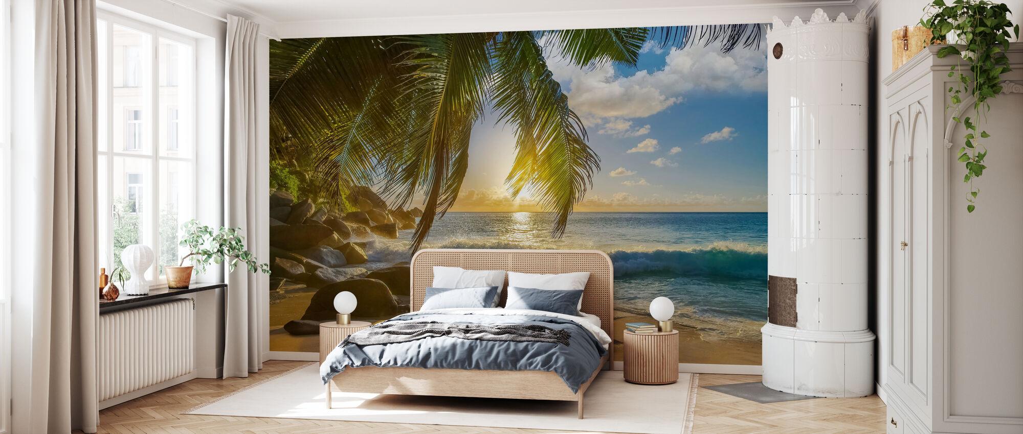 Beach Rocks Waves - Wallpaper - Bedroom