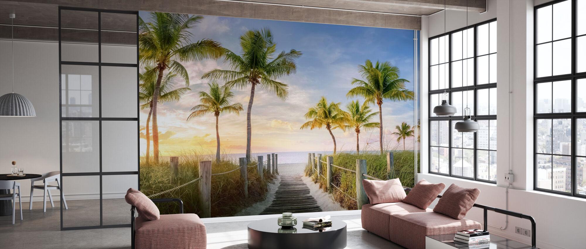 Footbridge to the Beach - Wallpaper - Office