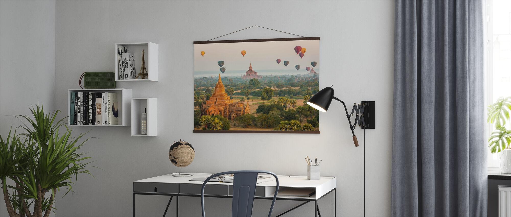 Bagan Baloons - Poster - Büro