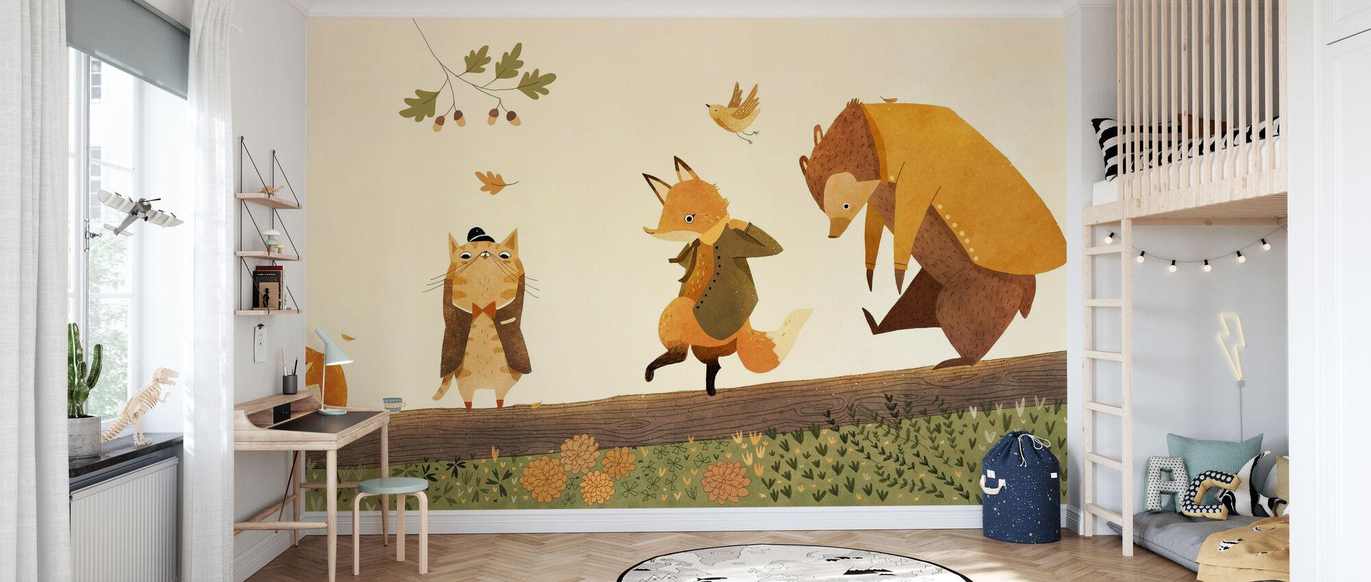 Head Shoulders Knees and Toes - Wallpaper - Kids Room