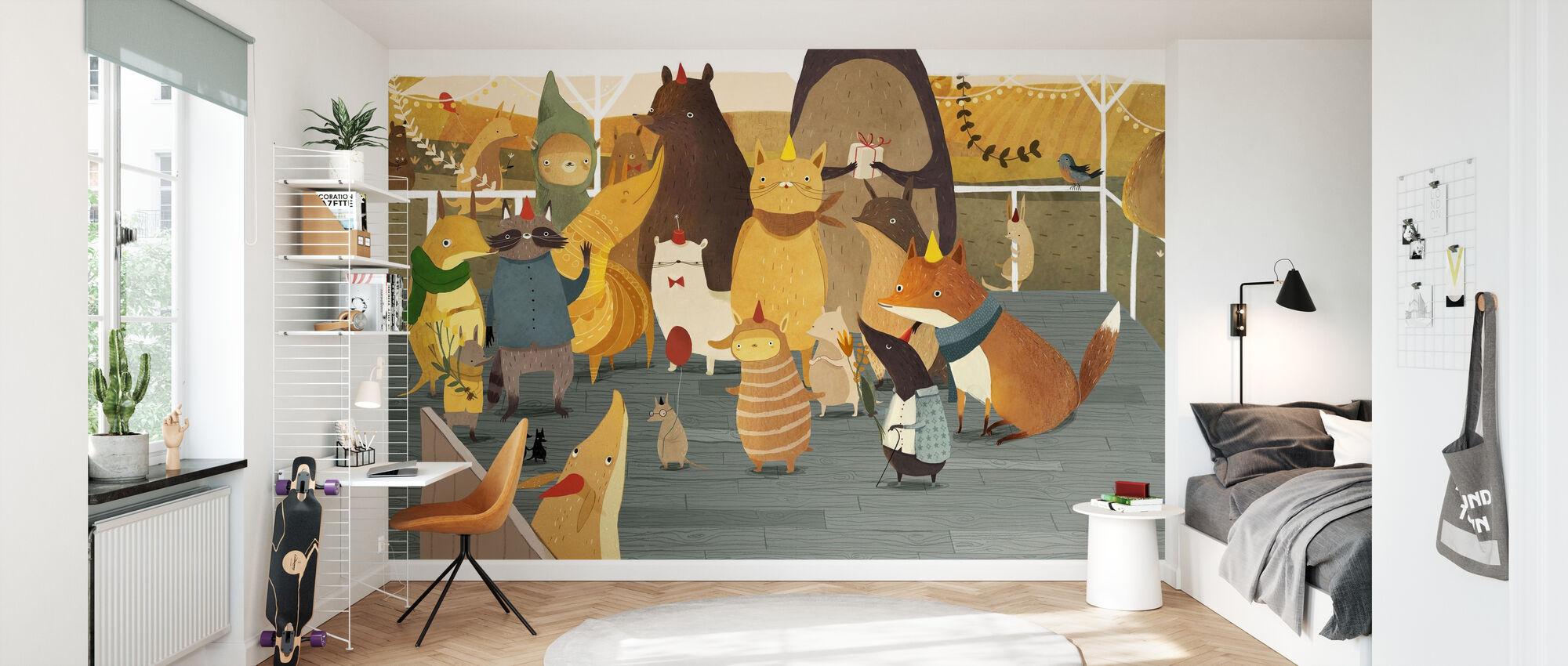 Besties Pancake Party - Wallpaper - Kids Room
