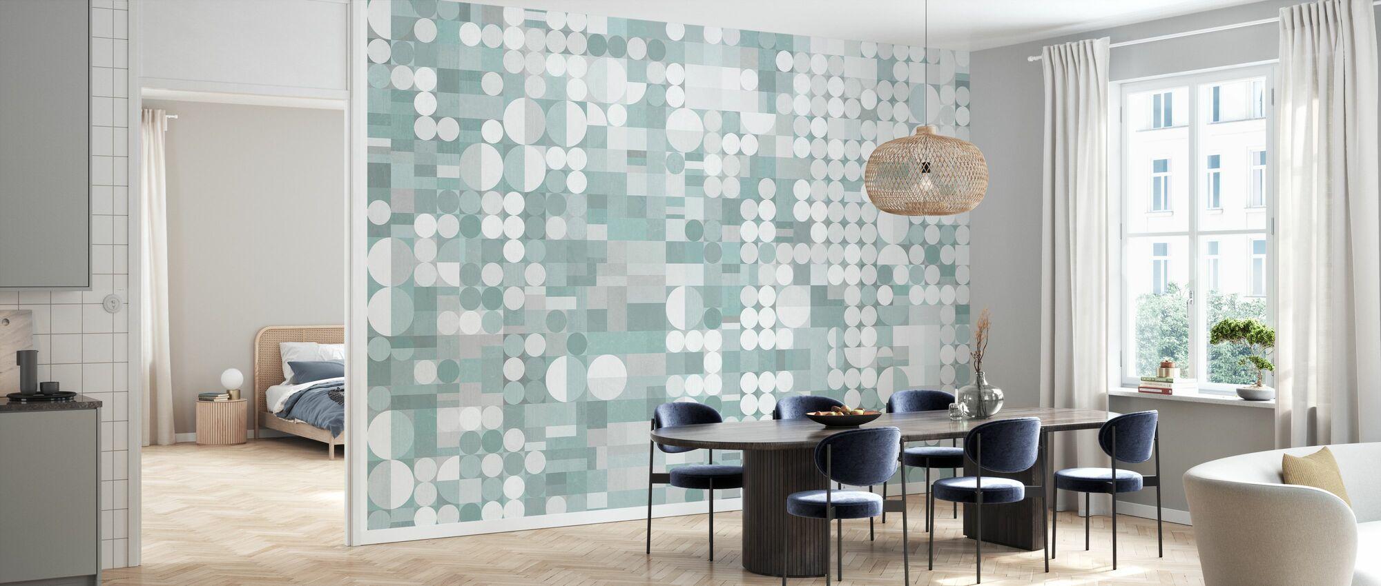 Circles and Blocks Deco III - Wallpaper - Kitchen